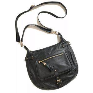 Danier Leather Black Purse Crossbody Satchel EUC